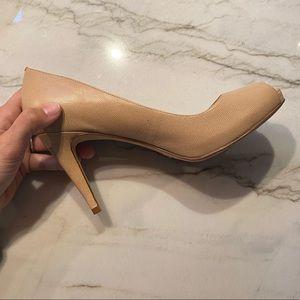 Cole Haan x Nike Air Nude Peep Toe Leather Heels